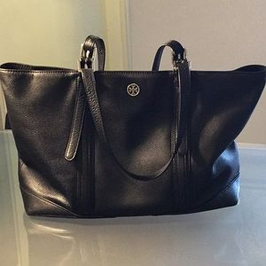 Authentic Tory Burch Black leather tote